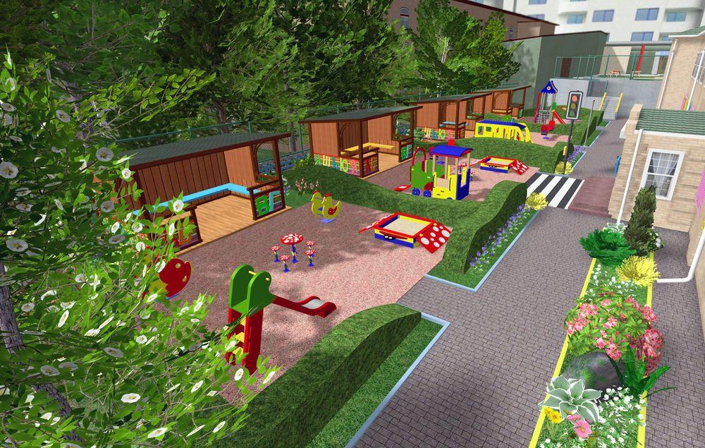 Дизайн площадки детского сада