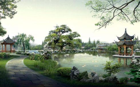 Ландшафтный дизайн в Азии