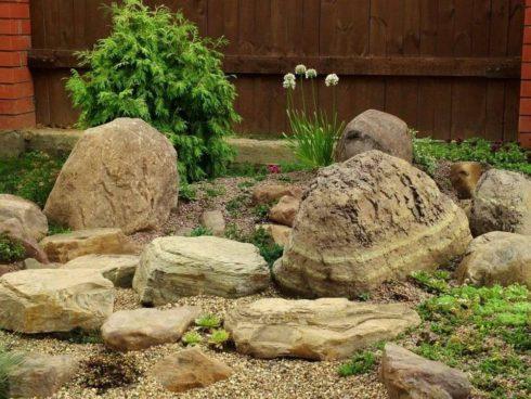 выложите самые большие камни, которые будут служить основой композиции