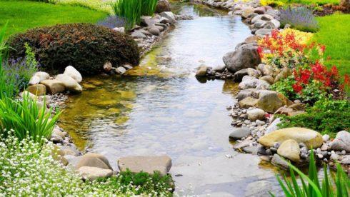 Ручьи в ландшафтном дизайне на участке