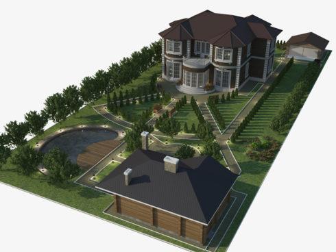3D дизайн ландшафта
