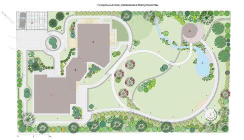 Проект озеленения придомовой трритории