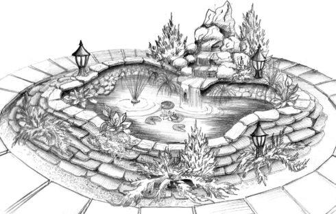 Эскизное проектирование ландшафта