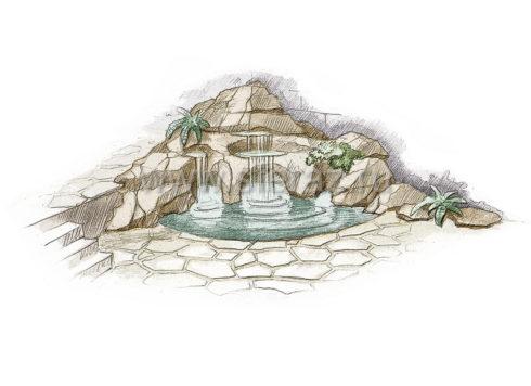 Оформление водопада в ландшафтном дизайне